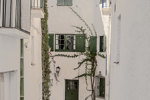Cadaques street located in the Spani