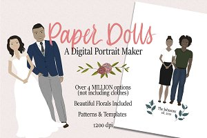 PAPER DOLLS, Digital Portrait Maker