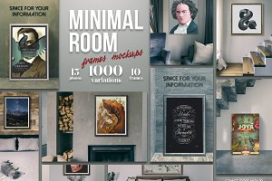 Minimal Room - Frames Mockups