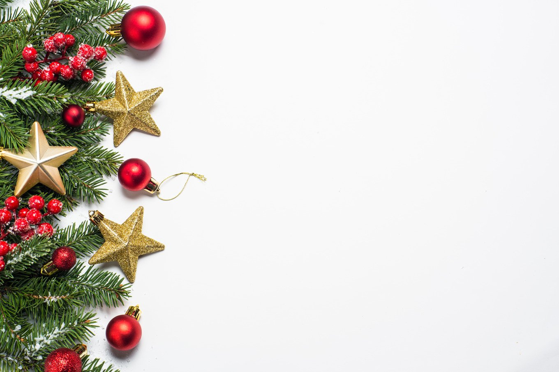 Christmas background on white. ~ Holiday Photos ~ Creative ...