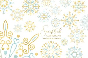 Snowflakes Clipart Collection 01