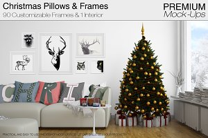 Christmas Pillows & Frames Pack