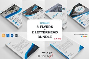 4 Flyers + 2 Letterhead Bundle 2018