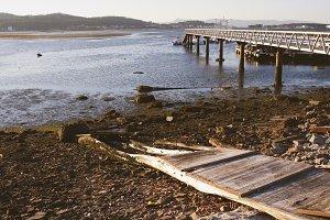 landscape old pier
