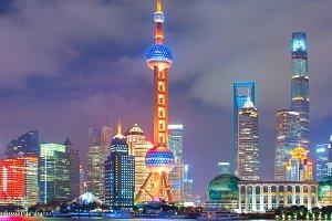 Shanghai Downtown at night