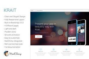 Krait - Responsive App Landing Page