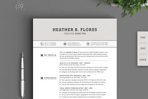 21 Pieces Timeless Resume CV Pack