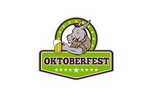 Donkey Beer Drinker Oktoberfest Retr