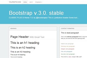Bootstrap 3.0. WhiteFlatty theme