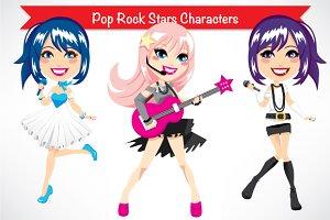 Pop Rock Stars Characters