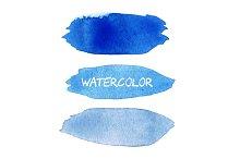 Blue vector watercolor blobs.