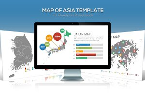 Asia Maps Powerpoint Template