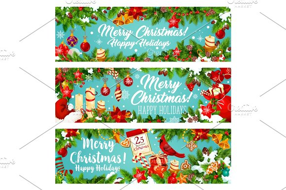 Winter Holiday Banners Tourism India Banners