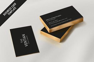 Modern hotel business card template