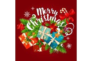 Christmas vector winter holiday season greeting