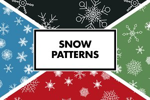 White Snowflake Patterns