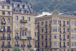 urban buildings Donostia, Spain