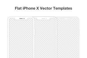 Flat iPhone X Vector Templates