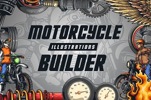 Motorcycle Illustrations Builder