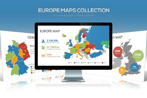 Europe Maps Collection for PPT