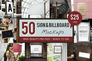 Signs & Billboards Mockup Bundle