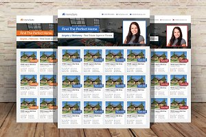 Real Estate Listings Flyer Template