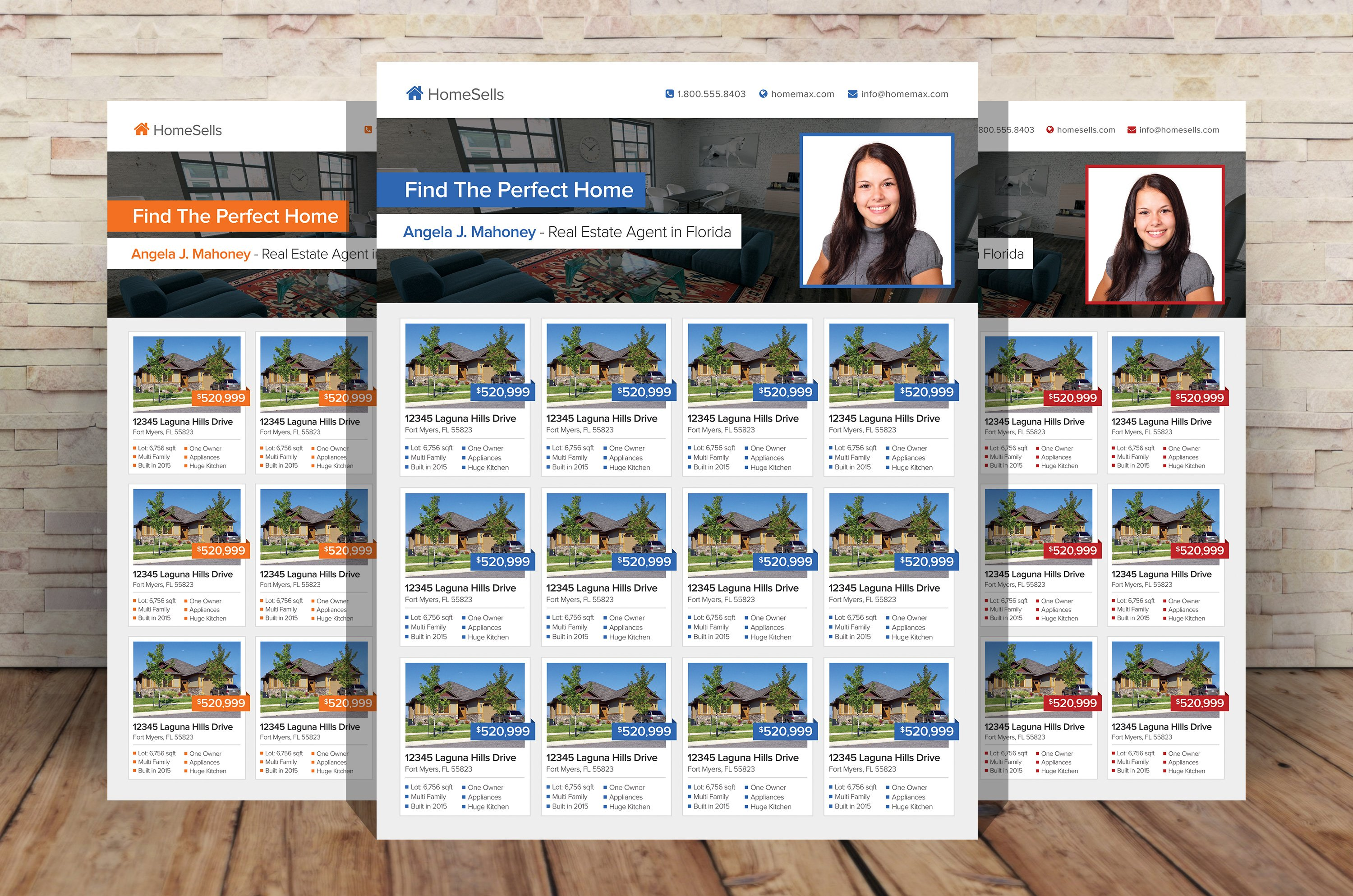 Real Estate Listings Flyer Template ~ Flyer Templates ~ Creative Market