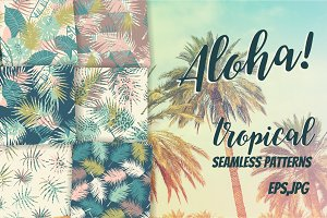 Aloha! 6 tropical seamless patterns.