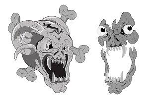 Scary Skulls Vectors