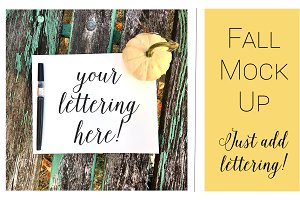 Fall Mock Ups | Table Top