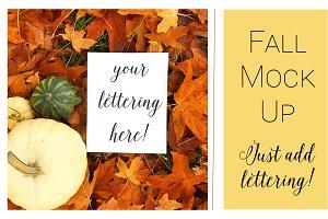 Fall Mock Ups | Fall Leaves