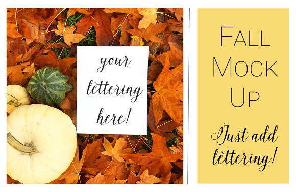 Fall Mock Ups Fall Leaves