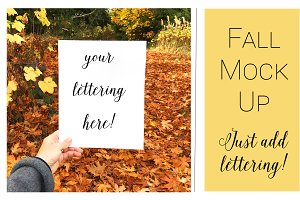 Fall Mock Ups | Single Photo