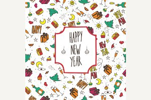 Pattern happy new year festive