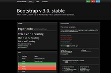 Bootstrap 3.0. black classic theme