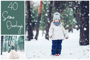 40 Snow Overlays