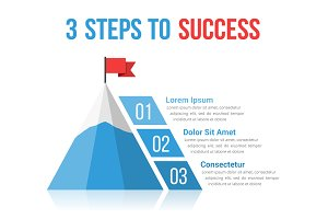 3 Steps to Success Infographics