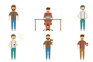 Hipster Set Of Characters