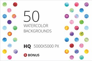 50 Watercolor Textures