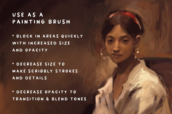 Procreate brush painters one brush brushes creative market fandeluxe Image collections