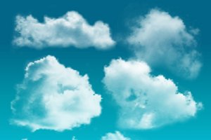 Clouds Realistic Icon Set