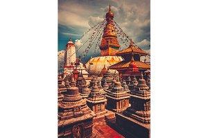 Bodhnath stupa in Kathmandu valley, Nepal
