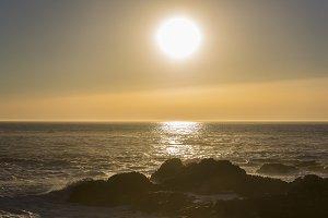 Sunset in Baiona.
