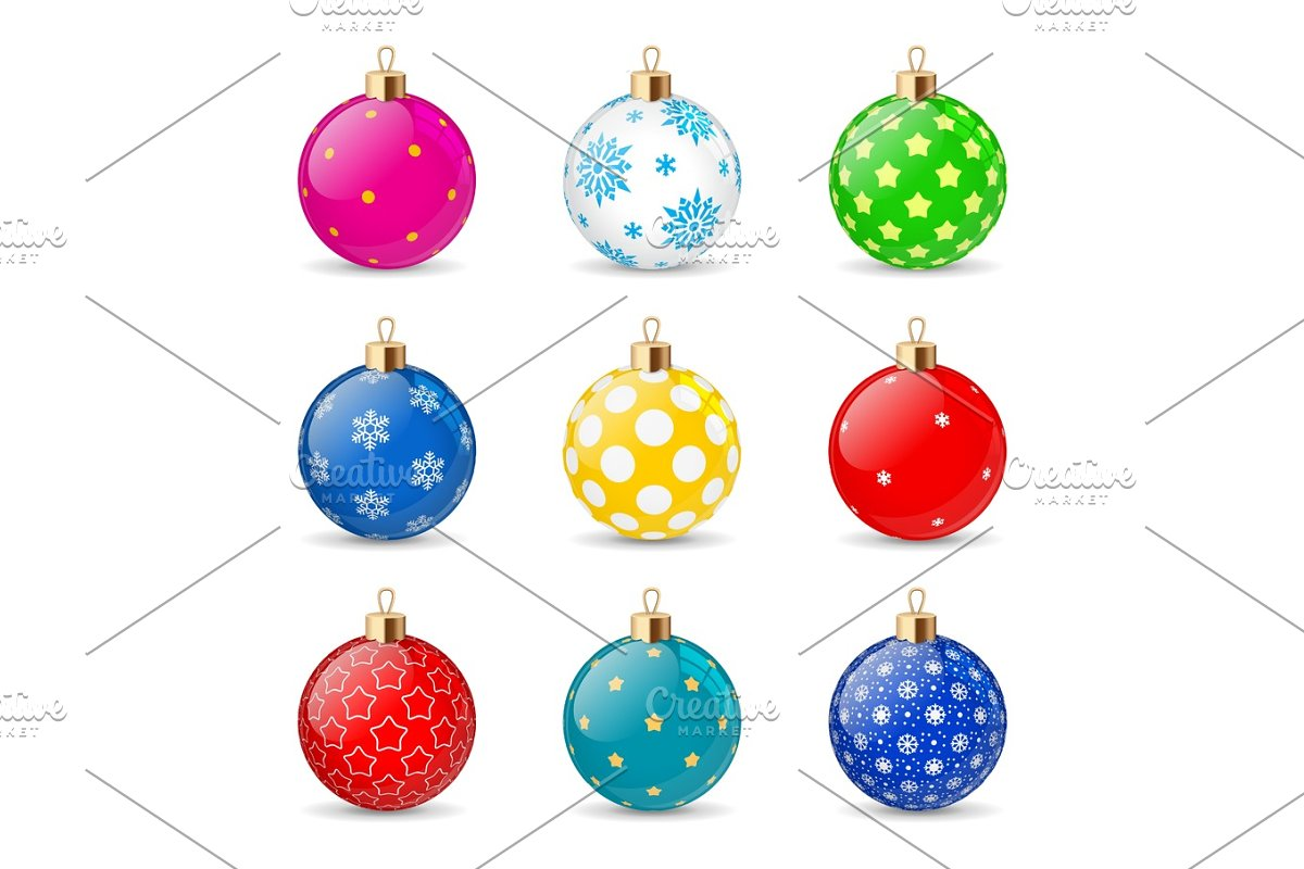 Christmas Transparent Background.Set Of Color Christmas Balls On A Transparent Background Stocking Christmas Decorations Stocking Element New Years Transparent Vector Object For