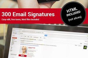 300 Email Signatures