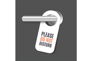 Do Not Disturb Sign and Door Handle