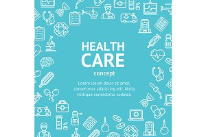 Health Care Concept Card.