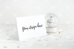 Christmas card mockup #0506