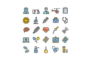 Medicine Symbols and Signs Icons