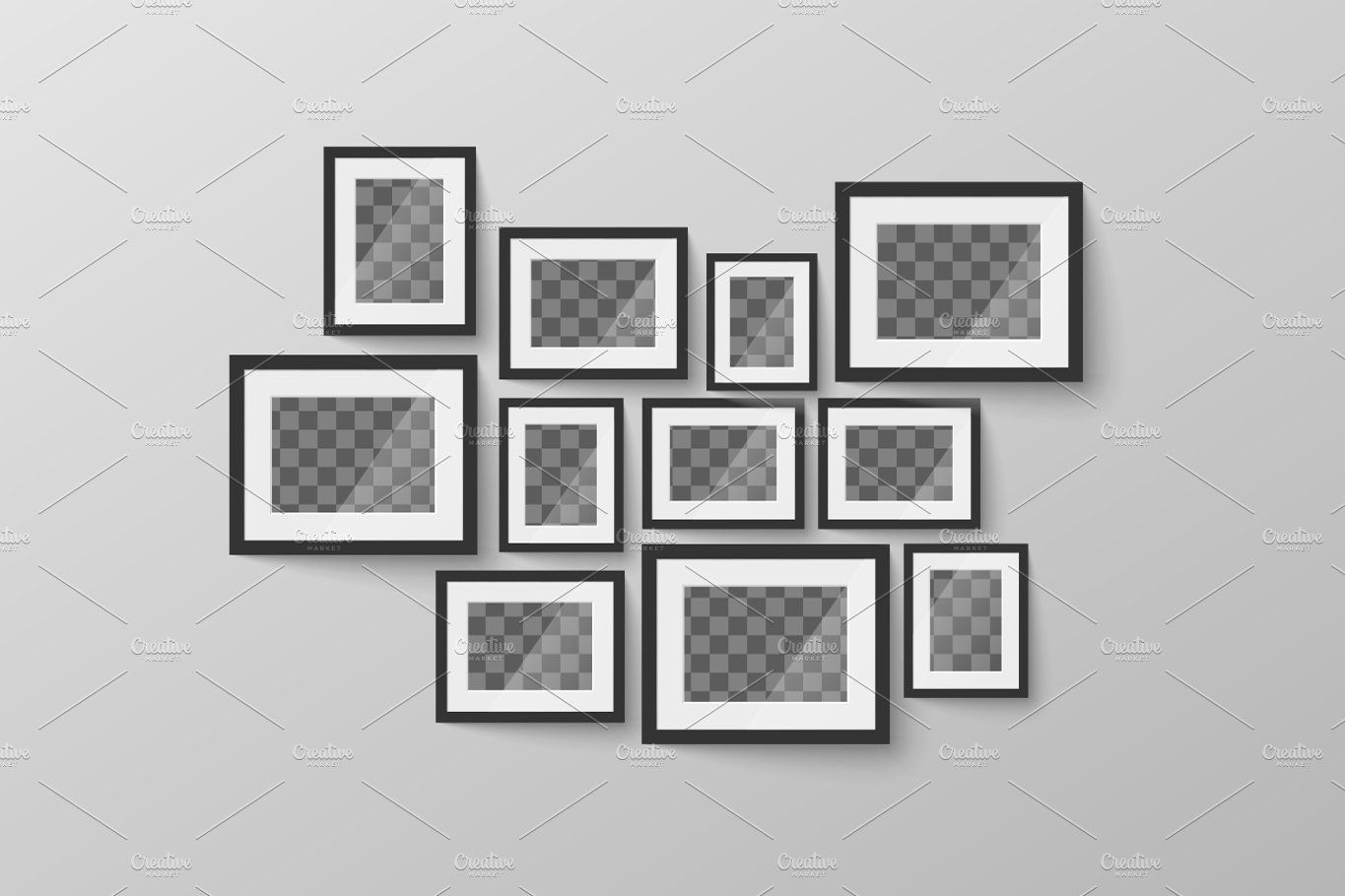 Minimalist black blank picture frame illustrations creative market jeuxipadfo Image collections